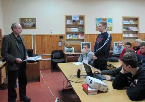 Учні групи доповнюють доповідь майстра