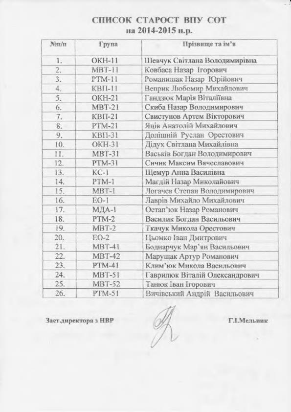 список старост_1