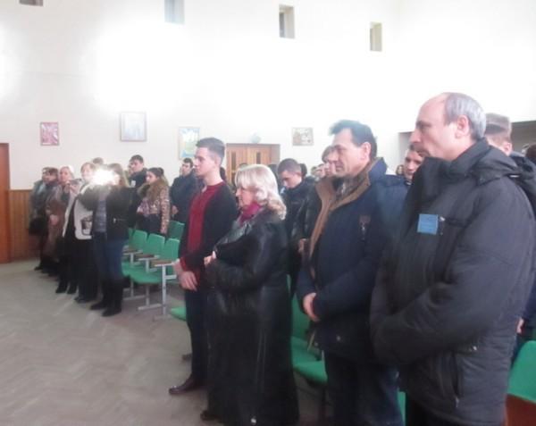Педагогічний колектив та учні ВПУ СОТ вшанували хвилиною мовчання пам'ять загиблих студентів