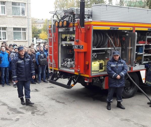 Ознайомлення учнями з специфікою роботи пожежорятувальн